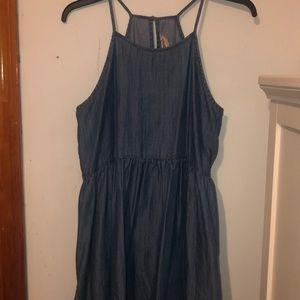 Denim halter top dress